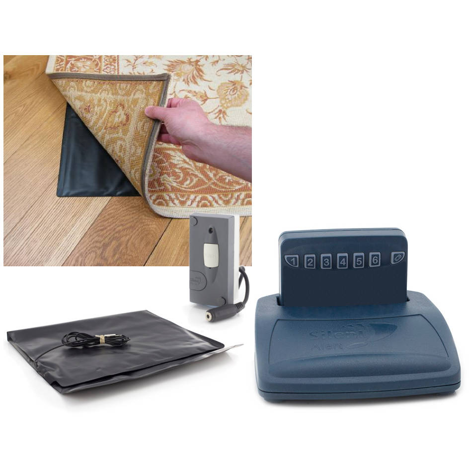 Care Call Pack 5 comprises a Pager, Trickle Charger, Mini Monitor and Under Carpet Pressure Pad