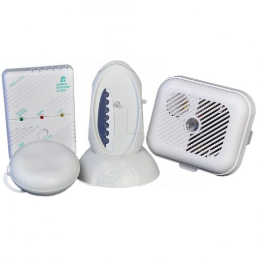 Silent Alert SA3000 Hard of Hearing Smoke & Carbon Monoxide Alarm Pack