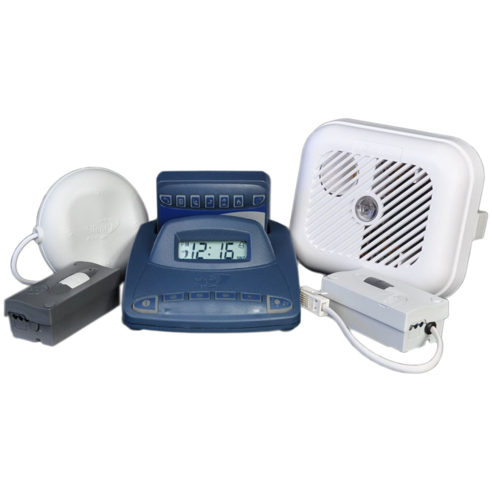 Silent Alert SA3000 Hard of Hearing Alarm Pack with Alarm Clock Charger