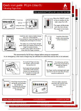 Silent Alert Fire Safe – Quick Setup Guides