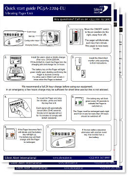 Silent Alert SA3000 Quick Setup Guides